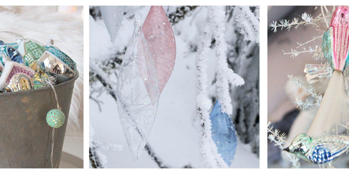 Vánoční ozdoby skleněná ruční výroba Glassor.